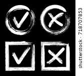 tick and cross test signs set ...   Shutterstock .eps vector #718707853