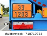 truck with dangerous goods | Shutterstock . vector #718710733