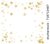 gold flying stars confetti... | Shutterstock .eps vector #718713487