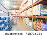blurred stack of paper product  ... | Shutterstock . vector #718716283