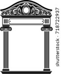 classic antique portal with...   Shutterstock .eps vector #718722937