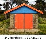 dromana public foreshore...   Shutterstock . vector #718726273