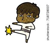 cartoon curious man   Shutterstock .eps vector #718728037