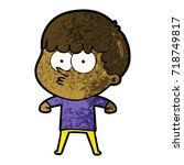 cartoon curious boy   Shutterstock .eps vector #718749817
