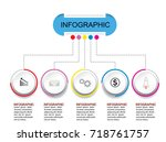 business info graphic template... | Shutterstock .eps vector #718761757