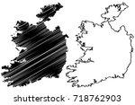 ireland map vector illustration ... | Shutterstock .eps vector #718762903