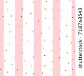 golden dots seamless pattern on ...   Shutterstock .eps vector #718768543
