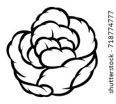 flower rose  black and white.... | Shutterstock .eps vector #718774777