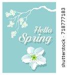 hello spring | Shutterstock .eps vector #718777183