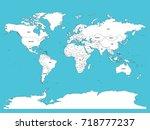 political map of world. white... | Shutterstock .eps vector #718777237