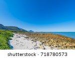 rock beach with jetty   pringle ... | Shutterstock . vector #718780573