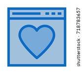 web heart icon | Shutterstock .eps vector #718783657