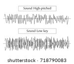 vector sound waves   sound high ... | Shutterstock .eps vector #718790083