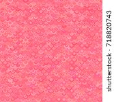 pink seamless pattern from arcs ... | Shutterstock .eps vector #718820743