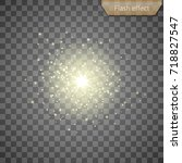 gold flash effect on a... | Shutterstock .eps vector #718827547
