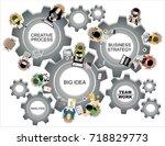 flat design illustration... | Shutterstock .eps vector #718829773
