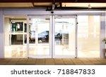 blank sliding glass doors... | Shutterstock . vector #718847833