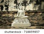 The Buddha Image Has A Brick...