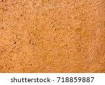 Moroccan Mud Wall In Ochre...