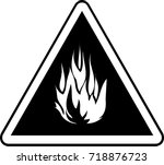 fire warning sign information | Shutterstock .eps vector #718876723