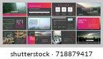 original presentation templates.... | Shutterstock .eps vector #718879417