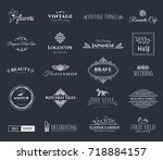 collection of templates.... | Shutterstock .eps vector #718884157