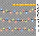 christmas lights isolated... | Shutterstock .eps vector #718887613