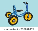 tricycle | Shutterstock .eps vector #718898497