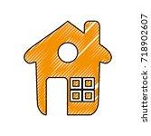 house real estate | Shutterstock .eps vector #718902607
