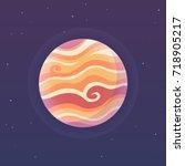 stylized planet jupiter on dark ...