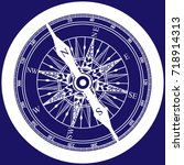 compass detailed. seafaring and ... | Shutterstock .eps vector #718914313