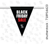black friday sale icon in black ... | Shutterstock .eps vector #718916623