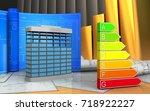 3d illustration of building... | Shutterstock . vector #718922227