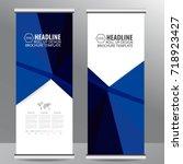 roll up business brochure flyer ... | Shutterstock .eps vector #718923427