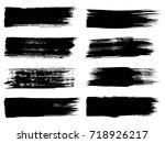 collection of artistic grungy... | Shutterstock . vector #718926217