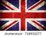 flag of great britain or... | Shutterstock . vector #718932277