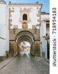 arch of concepcion in alcantara ... | Shutterstock . vector #718954183