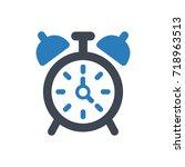 alarm clock icon | Shutterstock .eps vector #718963513