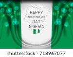 nigeria flag concept background ...   Shutterstock .eps vector #718967077