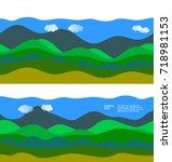 freshness natural theme  a... | Shutterstock .eps vector #718981153
