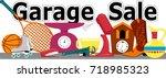 garage sale banner with... | Shutterstock .eps vector #718985323