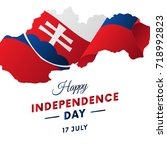 slovakia independence day....   Shutterstock .eps vector #718992823