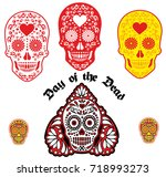 holy death  day of the dead ... | Shutterstock .eps vector #718993273