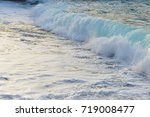 beach on sea shore. sea wave ... | Shutterstock . vector #719008477