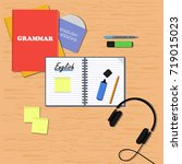 english learning concept. flat... | Shutterstock .eps vector #719015023