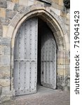 Wood Arch Doorway Into Church ...
