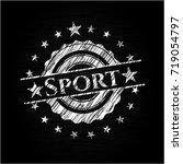 sport on chalkboard | Shutterstock .eps vector #719054797