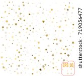 vector pattern with gold stars | Shutterstock .eps vector #719056477