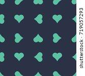 seamless neon blue revolved... | Shutterstock .eps vector #719057293