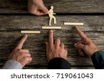 business teamwork and... | Shutterstock . vector #719061043
